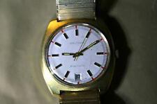 Mens VINTAGE WALTHAM Electronic Gold Plated Date Wrist Watch, non running.