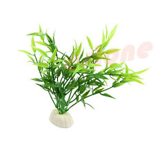 Simulated Green Bamboo Leaf Plant Grass Aquarium Fish Tank Decoration
