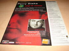 PERRY BLAKE - SONGS FOR SOMEONE!!!!!FRENCH PRESS ADVERT