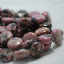 10 x  Rhodonite Disc / Coin / Button 14 mm Beads Semi-precious Gemstone