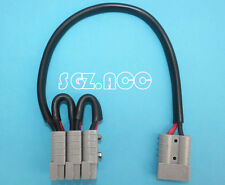 ANDERSON PLUG 50AMP 6B&S TRIPLE ADAPTER EXTENSION CABLE LEAD 12VOLT CAMPER 40CM