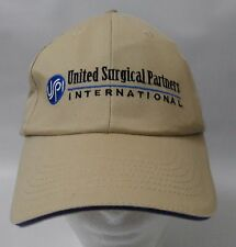United Surgical Partners USPI Embroidered Baseball Cap Adjustable Hat Beige
