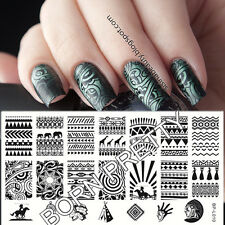 Nagel Schablone BORN PRETTY L010 Nail Art Stamp Stamping Template Plates