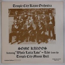 TEMPLE CITY KAZOO ORCHESTRA: Some Kazoos SPLATTERED COLORED WAX Rhino LP