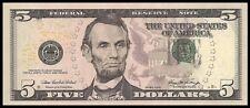 Amérique, USA Billet 5 Dollars - Très bon état