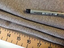 "High Class Designer Multi Colour Wool Harringbone Fabric 61""156cm Brown Boss Sew"