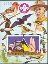St. Lucia 1986 Scouts/Scouting/Camp Fire/Cooking/Birds/Baden Powell 2v m/s b3486