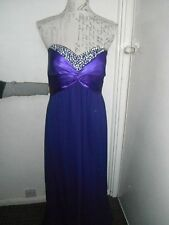 Ladies Long Purple Prom/Cocktail/Bridesmaid Dress/Ball Gown Size 16/18