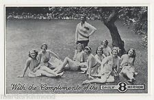 Daily Mirror Newspaper, 8 Glamour Girls Advertising Postcard, B554