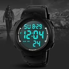 UK Fashion Waterproof Men's Boy LCD Digital Stopwatch Date Sport Wrist Watch Hot