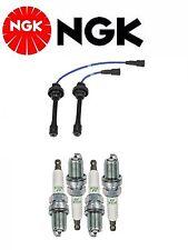 NGK Wire Set + 4 NGK Spark Plugs For Mitsubishi Lancer  L4; 2.0L 2004-2006