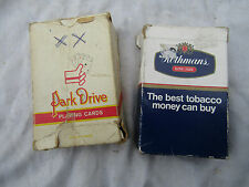 VINTAGE PLAYING CARDS x2 packs  PARK DRIVE AND ROTHMANS