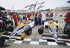 Nelson PIQUET SIGNED Parc Ferme HONDA 12x8 Photo AFTAL Autograph COA F1 Winner