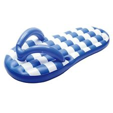 Nautical Blue Flip Flop Float Inflatable Swimming Pool Mattress Raft Lounger 71""