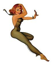 Baron Von Lind CLASSIC 50's Style CIGAR PINUP Girl Sticker VINTAGE TOOLBOX Decal