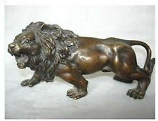 Collectible bronze lion statue