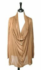 Designers Remix Collection - Charlotte Eskildsen Brown long cardigan - UK 12/14