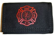 Fire Fighter Nylon Trifold Wallet - With Dual IDs - NEW