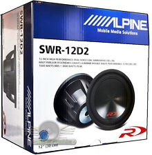 "Alpine SWR-12D2 12"" 3000 Watt Dual 2-Ohm Car Subwoofer New SWR12D2 Car Subs"