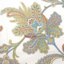 RALPH LAUREN Jacobean Floral KING DUVET COVER SET NWT Orange Blue Green TROPICAL