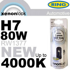 NEW! PREMIUM RING H7 80w 12v HEADLIGHT BULBS XENON LOOK PERFORMANCE UPGRADE NEW!