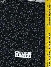 """108"""" Wide Quilt Backing PER YARD, 100% Cotton,  HENRY GLASS FOLIO BLACK 7882-99"""