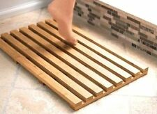 New Bamboo Wood Wooden Slatted Duck Board Rectangular Bathroom Bath Shower Mat