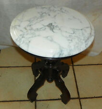 Mahogany Marble Top Plant Stand / End Table    (PS189)