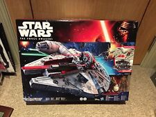 Star Wars The Force Awakens Battle Action Millenium Falcon + 3 Figures SEALED