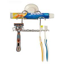 New Household Bathroom Toothbrush Stainless Steel Holder Toothpaste Razor Holder