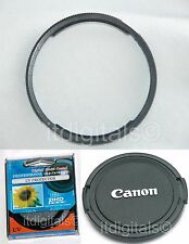 Adapter Ring + UV Lens Cap For Canon Powershot SX1 IS SX1IS Camera U&S