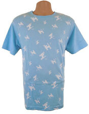 Official Mambo Surf T-Shirt Mens Medium Dognut Pattern Light Blue