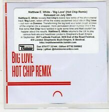 (ER384) Matthew E. White, Big Love - 2013 DJ CD