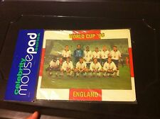 rare vintage ENGLAND football Mouse Mat / Pad World Cup 98 gift present English