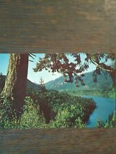 LAKE ALDWELL OLYMPIC MOUNTAINS VINTAGE POST CARD PORT ANGELES WASHINGTON