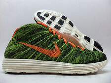 NIKE LUNAR FLYKNIT CHUKKA BLACK/ORANGE-GREEN SIZE MEN'S 9.5 [554969-080]