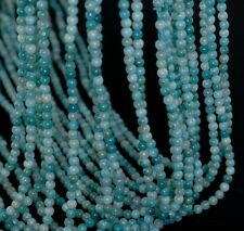 3MM  HEMIMORPHITE GEMSTONE GRADE A BLUE ROUND LOOSE BEADS 15.5""