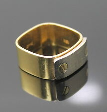 LUXURY ESTATE AUTHENTIC PIAGET 750 18K YELLOW WHITE GOLD WIDE BAND RING SIZE 8