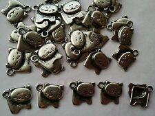 30 X Tibetan Silver Cat Charms