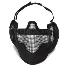 Tactical Half Face & Ear Cover Mask Steel Protection for Paintball Airsoft Game