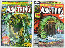 The Man-Thing #1 1974 20¢ & 1979 40¢ 2nd Howard The Duck! Marvel's Swamp Thing!
