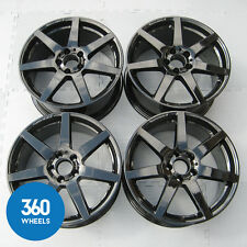 "GENUINE MERCEDES C CLASS 18"" 7 SPOKE AMG ALLOY WHEELS W204 C204 S204 BLACK"