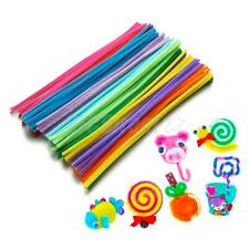"300pc ASSORTED COLOR FUZZY PIPE CLEANERS CHENILLE STEMS STICKS 12"" DIY CRAFT"