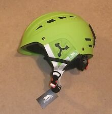 NUOVO Trespass furillo Gents CASCO DA SCI L / XL 56-62 cm VERDE LIME