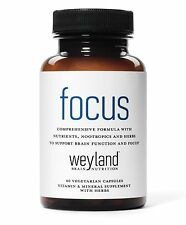 Focus Support Supplement with Vitamins, Minerals, Herbs and Nootropics. FREE S&H