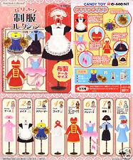 RE-MENT Dollhouse Outfit Uniform Collection Clothes dress Pullip Blythe 8 PCS