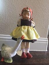 """Vintage """"Goose Girl"""" Goebel Hummel Large Doll"""