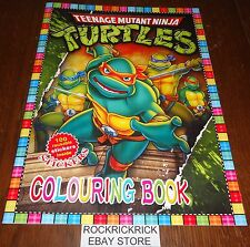TEENAGE MUTANT NINJA TURTLES 16 PAGE COLOURING & STICKERS BOOK (BRAND NEW)