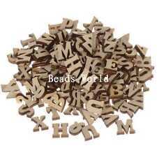 Top Quality Wood Craft Mixed Home Decoration Letters Scrapbooking 100 Pcs 7-16mm