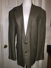 OSCAR DE LE RENTA MEN'S 44R TWO BUTTON TWEED WOOL SUIT JACKET
